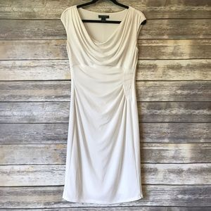 Lauren Ralph Lauren Dresses - Ralph Lauren size 10 cream ruched draped dress